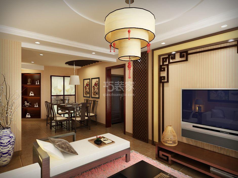 上海建筑87平中式风格设计方案